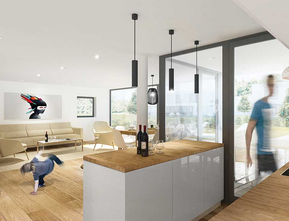 Modern Kitchen with Outdoor Access
